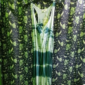 NWT Teal Tie Dye Summer Maxi Dress